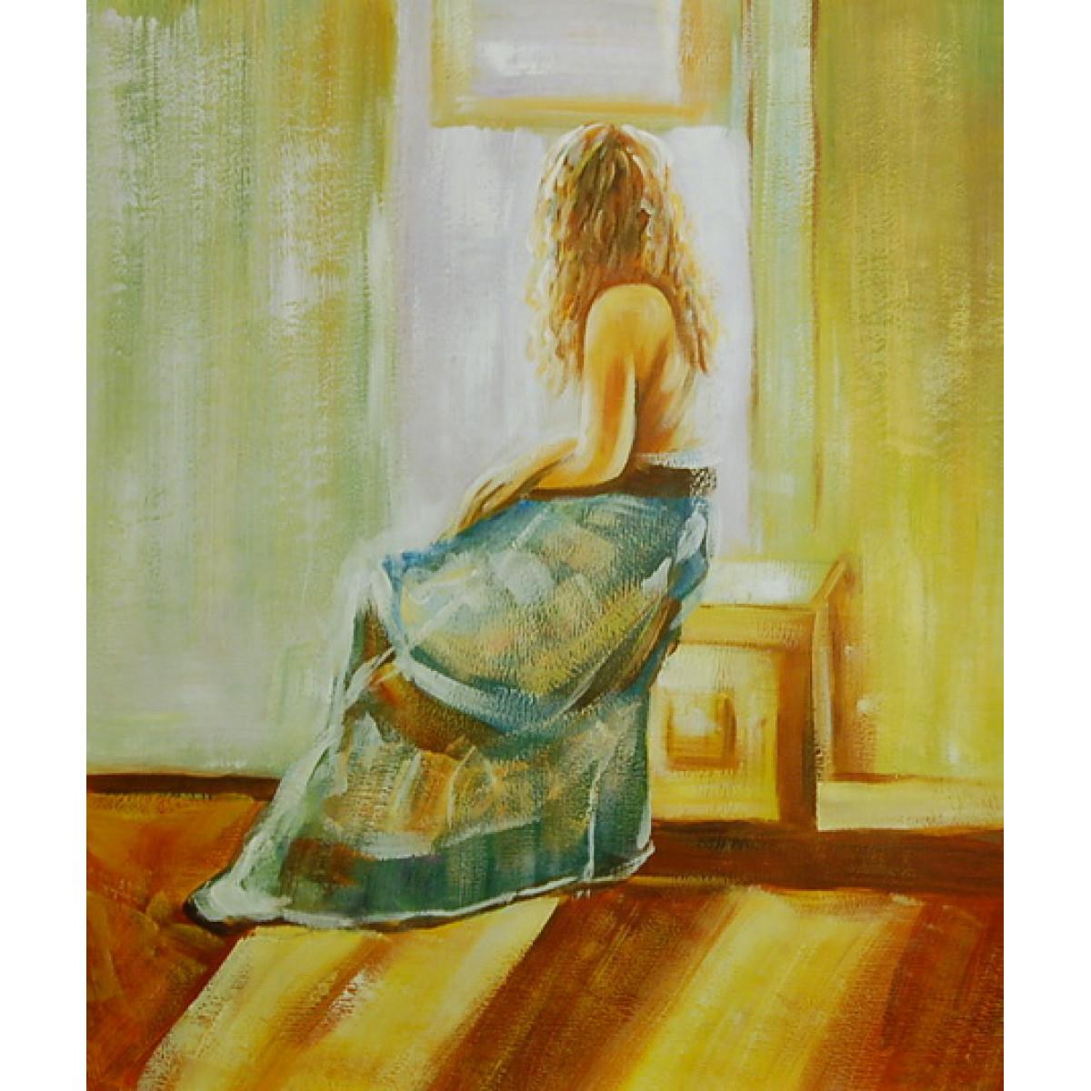 """Картина """"Девушка у окна"""" , холст, масло, 50х60см"""