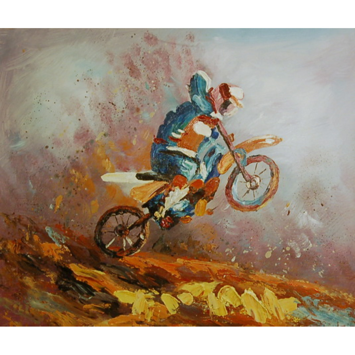 """Картина """"Мотокросс"""", холст, масло, 50х60см"""