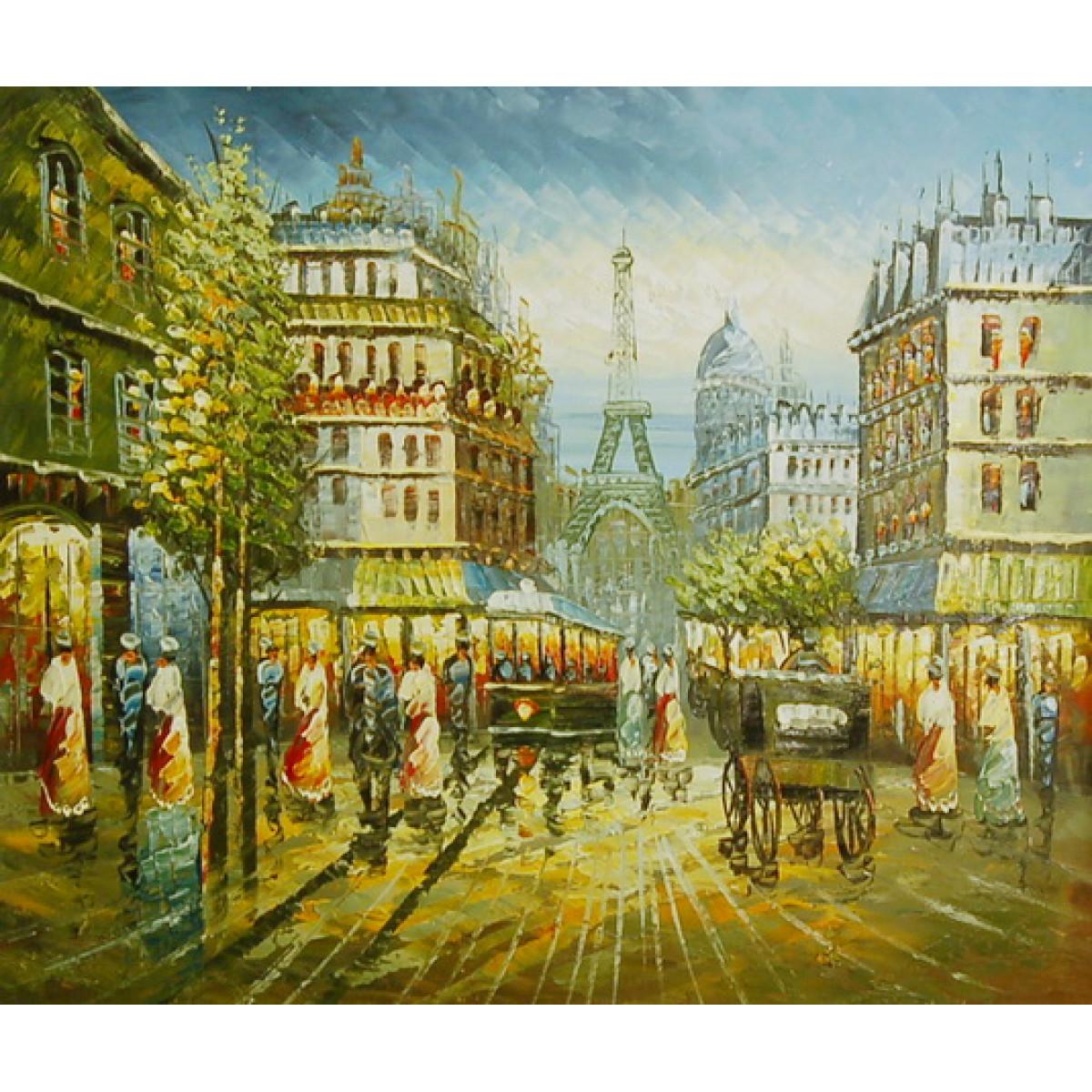 "Картина ""Цветной Париж"", холст, масло, 50x60см"