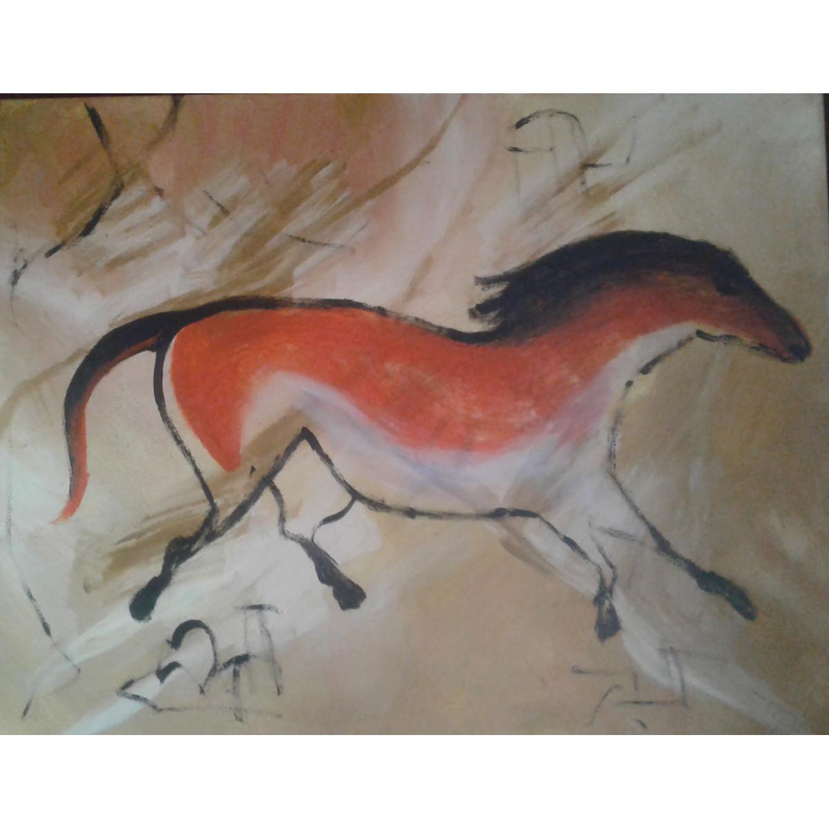 "Картина ""Лошадь"", холст, акрил, 120х80см"
