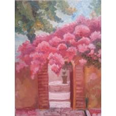"""Картина  """"Сады Европы"""", холст, масло, 25х30см"""