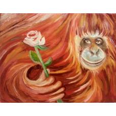 """Картина """"С Новым годом от огненной обезьяны"""""""