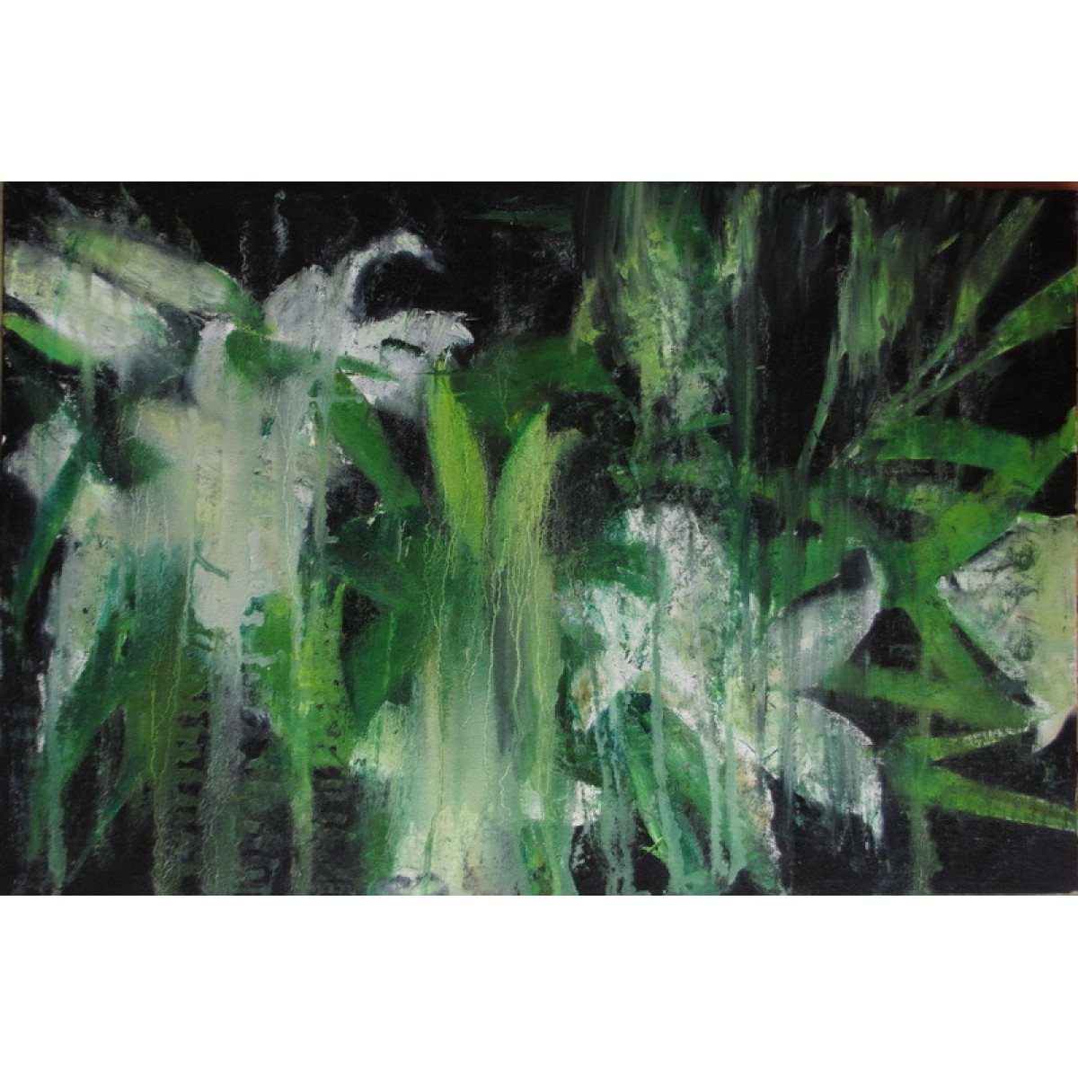 "Картина ""Лилии"", холст на картоне, масло, 40х60см"