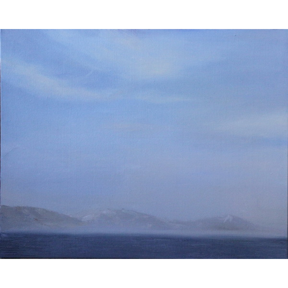 "Картина ""Солнечный день на озере"", холст на картоне, масло, 40х50см"