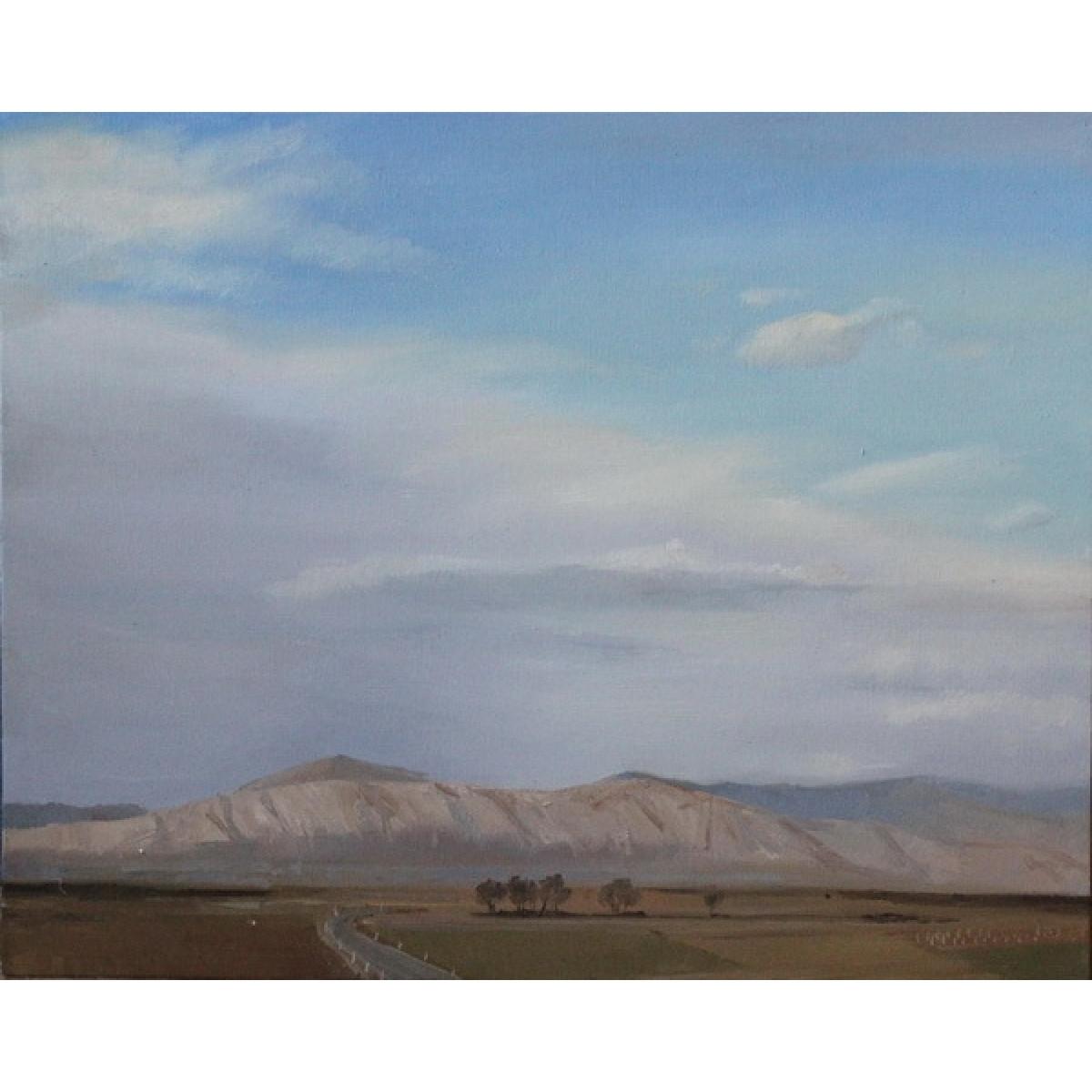 "Картина ""Ветреная погода"", холст на картоне, 40x50см"