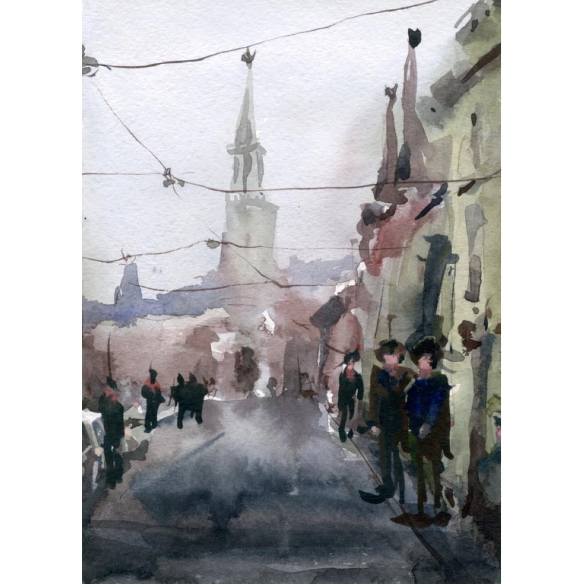Картина Городской пейзаж 2, 13х18см, акварель