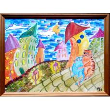 Картина Кошачьи крыши