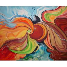 """Картина """"Абстрактная композиция"""", холст, акрил, 40х50см"""