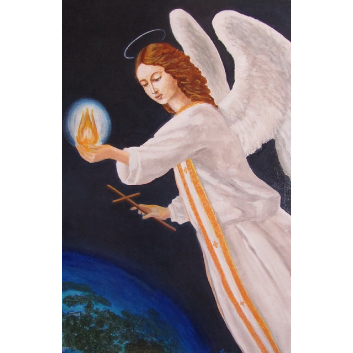 "Картина ""Ангел"", холст, акрил, 40х60см"