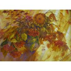 "Картина ""Осенний натюрморт"", холст, масло, 50х70см"