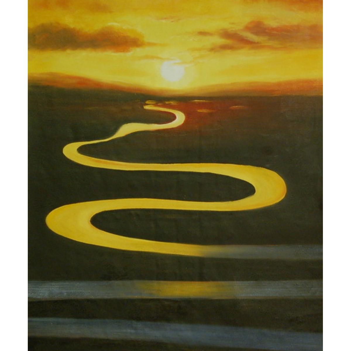 "Картина ""Бесконечная река"", холст, масло, 50х60см"