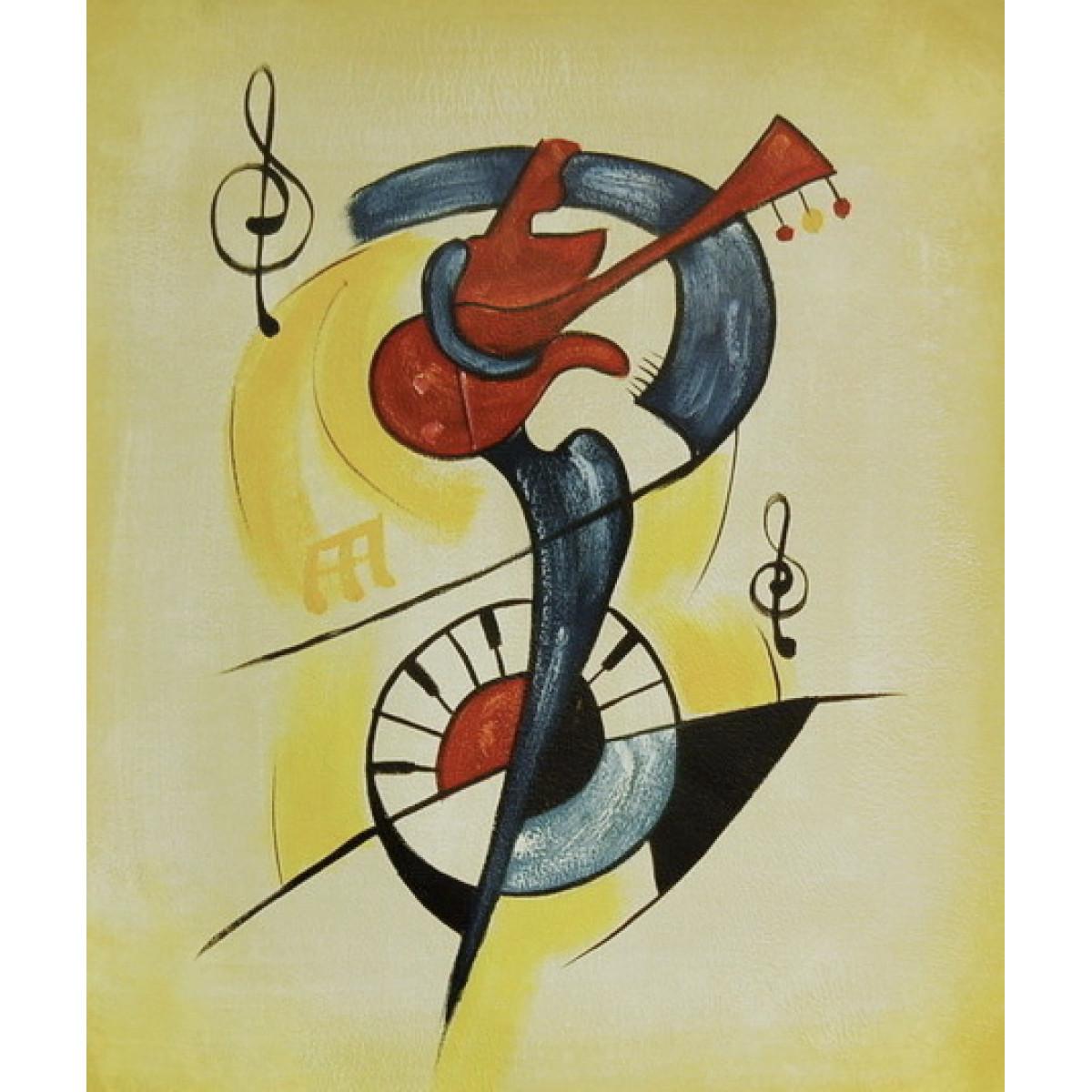 """Картина """"Гитарист 2"""" холст, масло, 50х60см"""