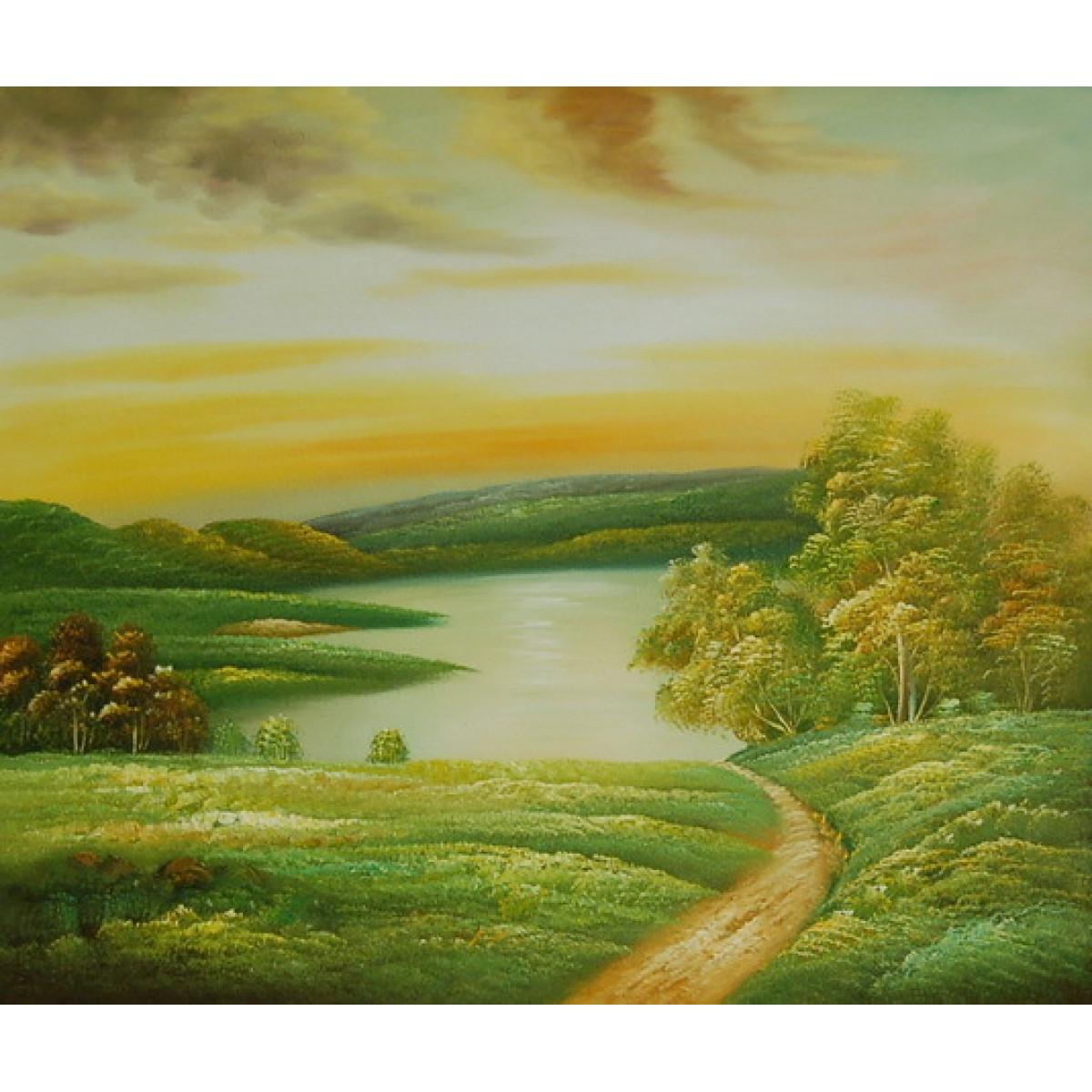 """Картина """"Летний вид"""", холст, масло, 50x60см"""