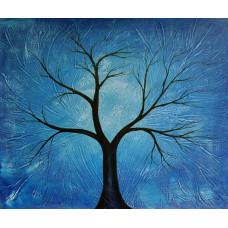 """Синее дерево"" , холст, масло, 50х60см"