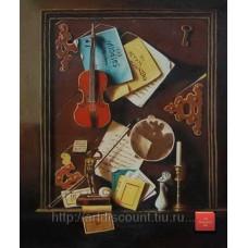 "Картина  ""Интерьерная композиция"" холст, масло, 50х60см"