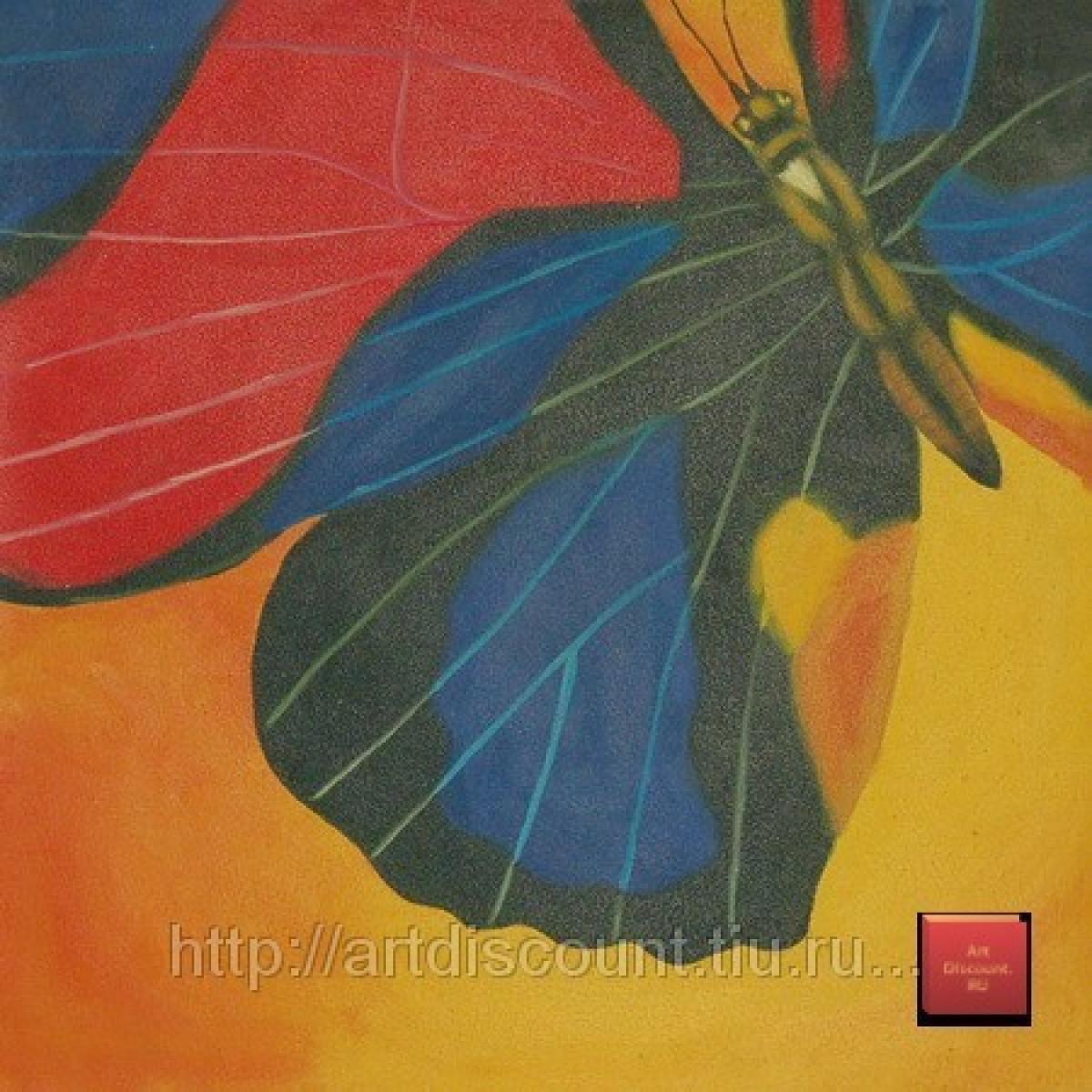 """Картина """"Королева бабочек"""" холст, масло, 60x60см"""