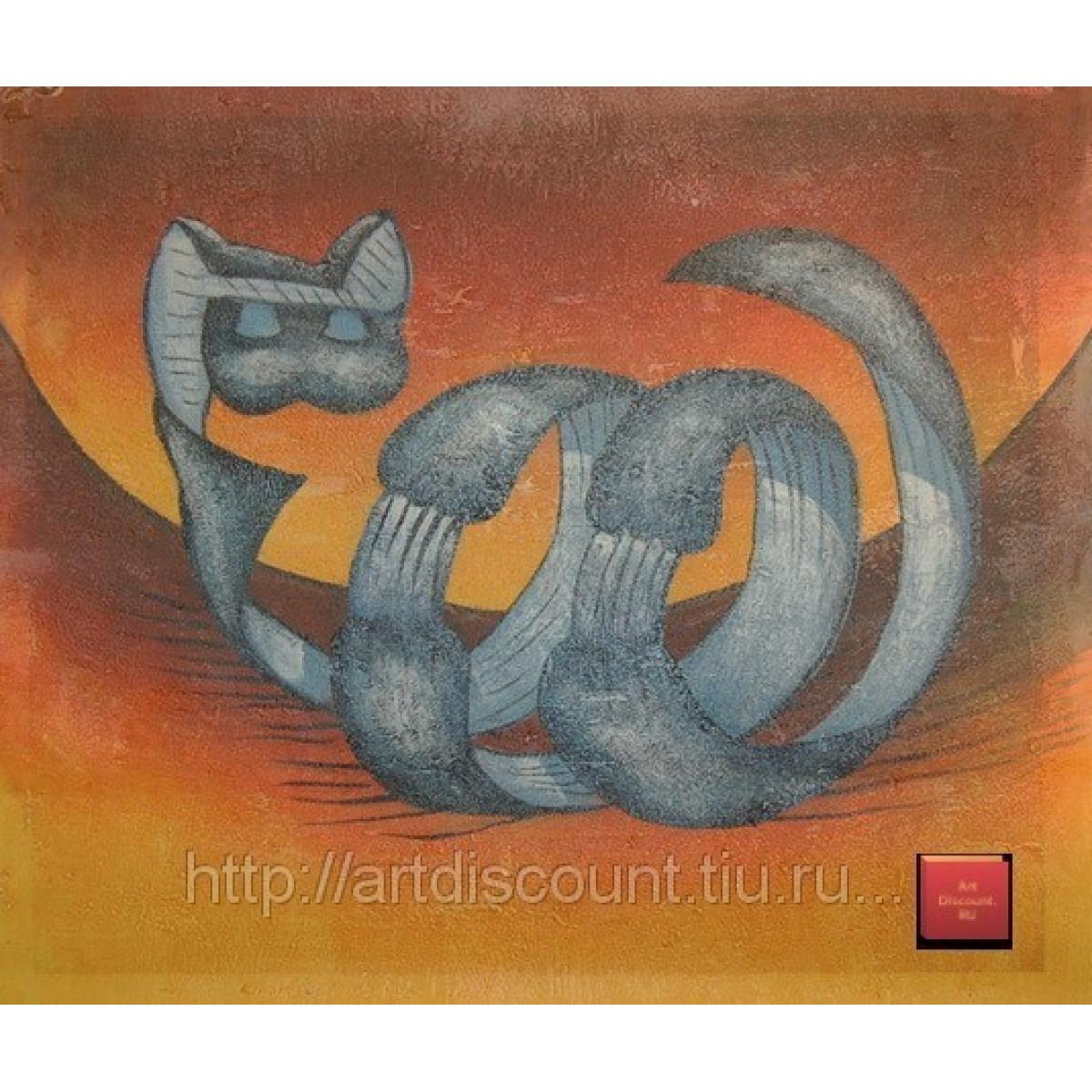 "Картина ""Котозмей"" холст, масло, 50x60см"