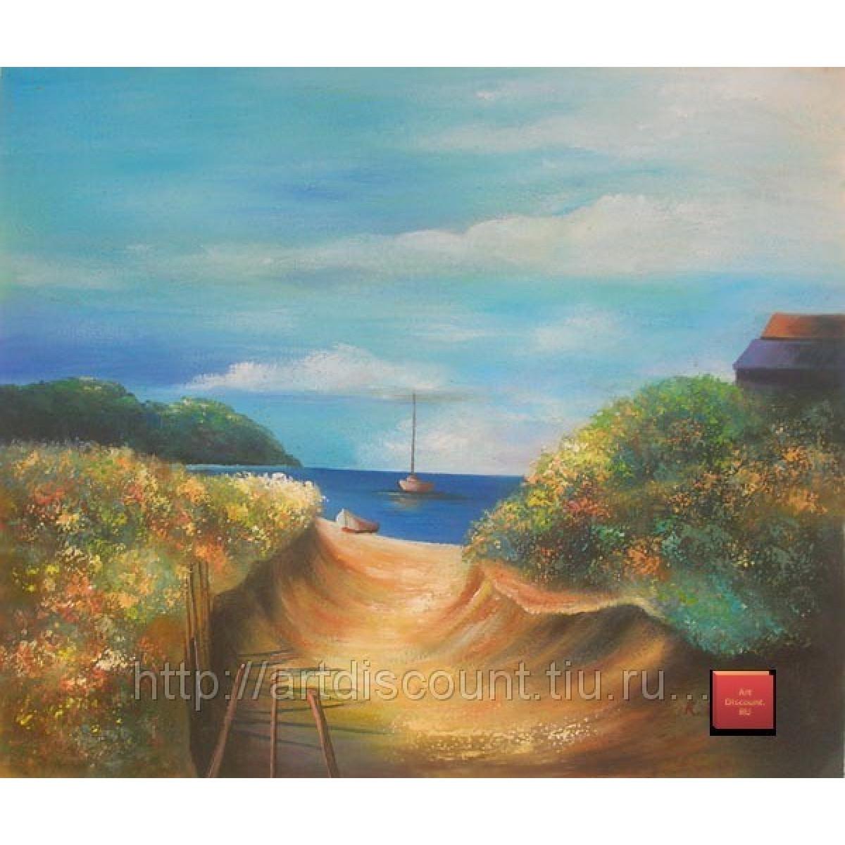 """Картина """"Летний день в дюнах"""", холст, масло, 50х60см"""