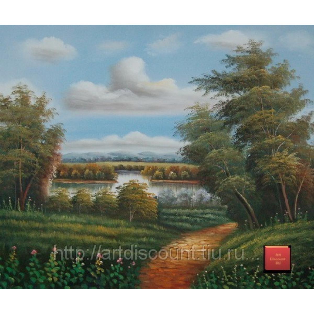 """Картина """"Летний пейзаж"""", холст, масло, 50х60см"""