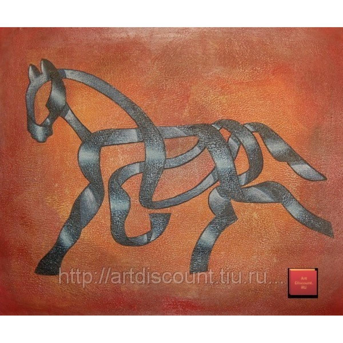 "Картина ""Лошадь"", холст, масло, 50х60см"