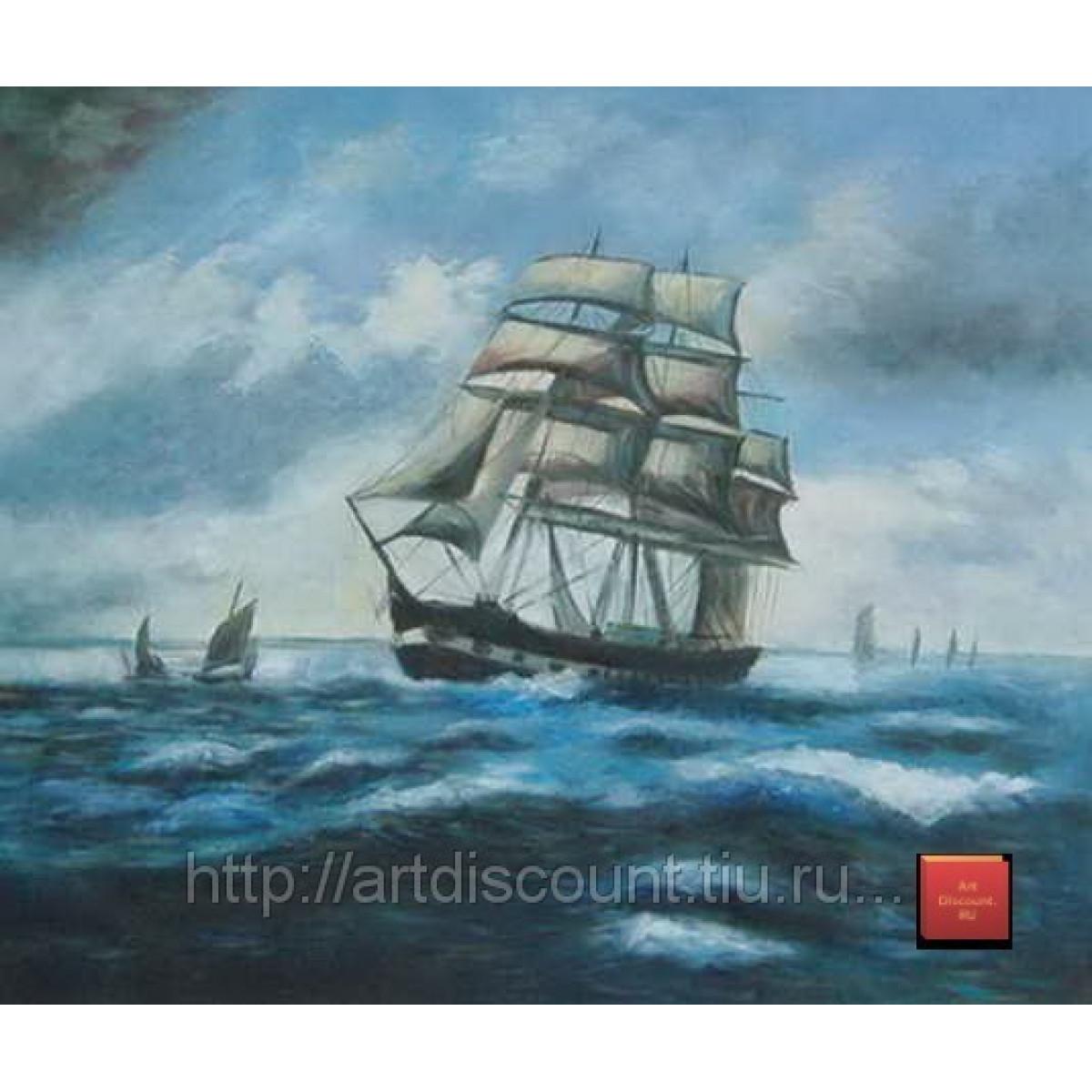 "Картина ""Морская"", холст, масло, 50х60см"