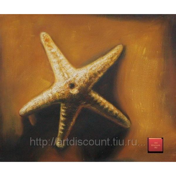 "Картина  ""Морская звезда"", холст, масло, 50х60см"