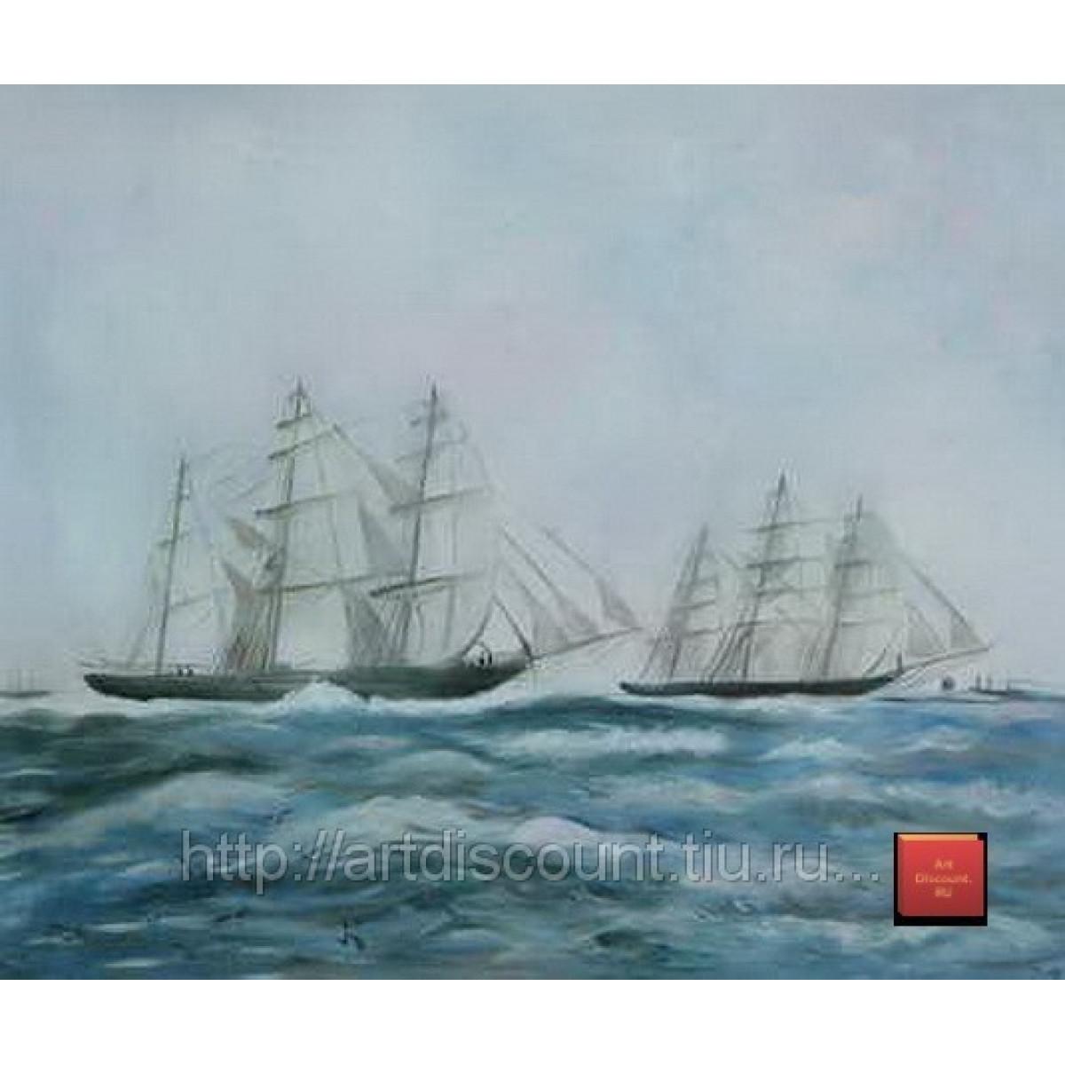 "Картина ""Морской пейзаж 2"", холст, масло, 50х60см"