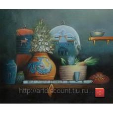 "Картина  ""Настоящему индейцу"", холст, масло, 50х60см"