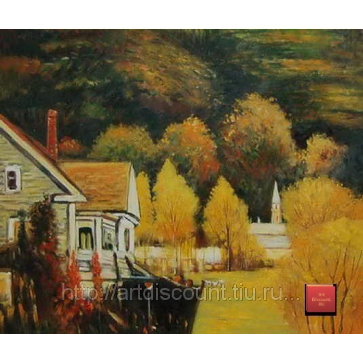 """Картина """"Осенний пейзаж"""", холст, масло, 50х60см"""