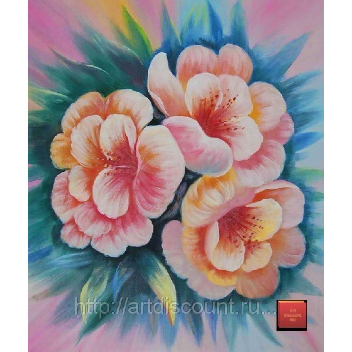 "Картина ""Розы"" холст, масло, 50х60см"