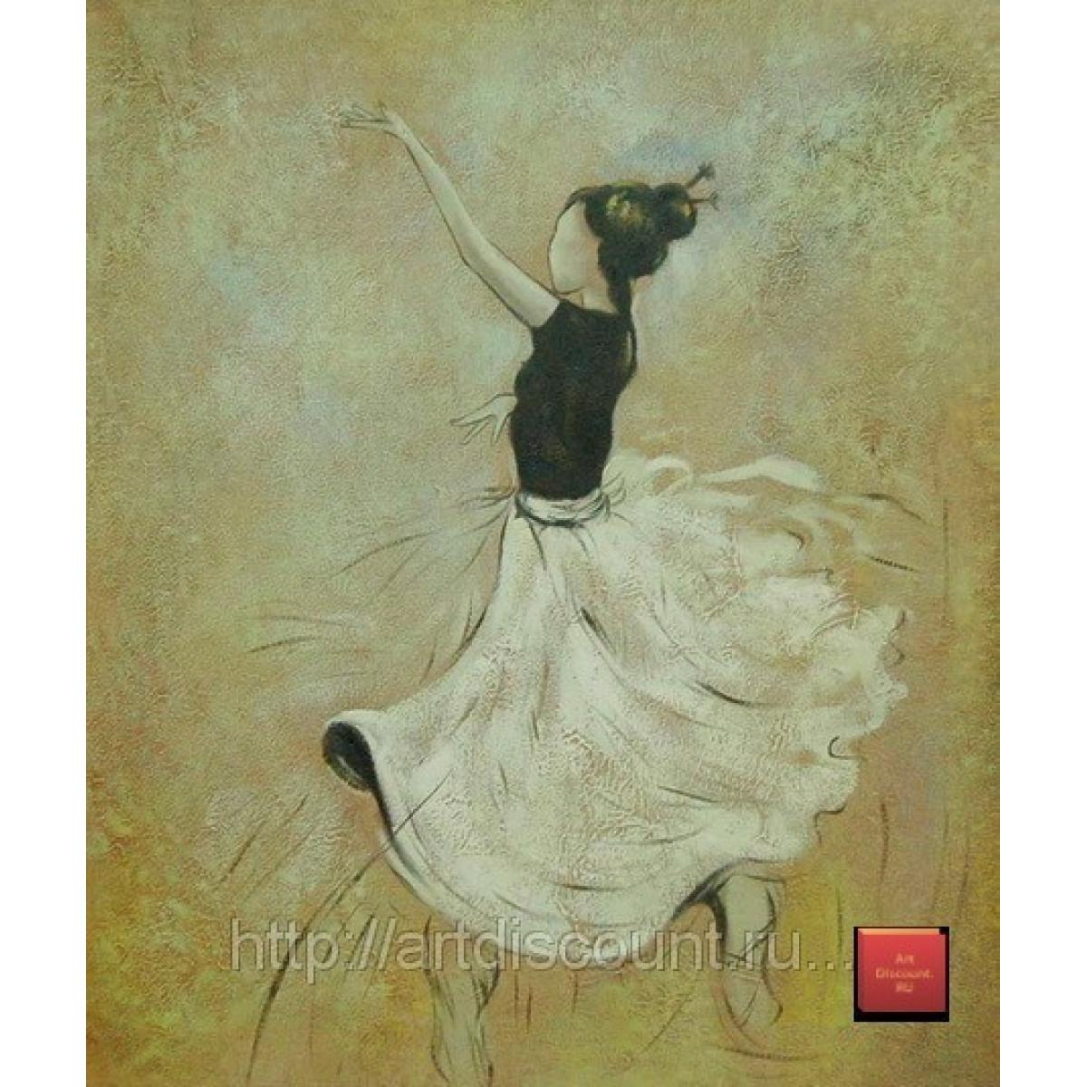 """Картина """"Танцовщица"""" холст, масло, 50х60см"""