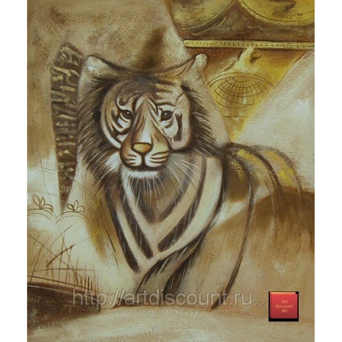 """Картина """"Тигр"""" холст, масло, 50х60см"""