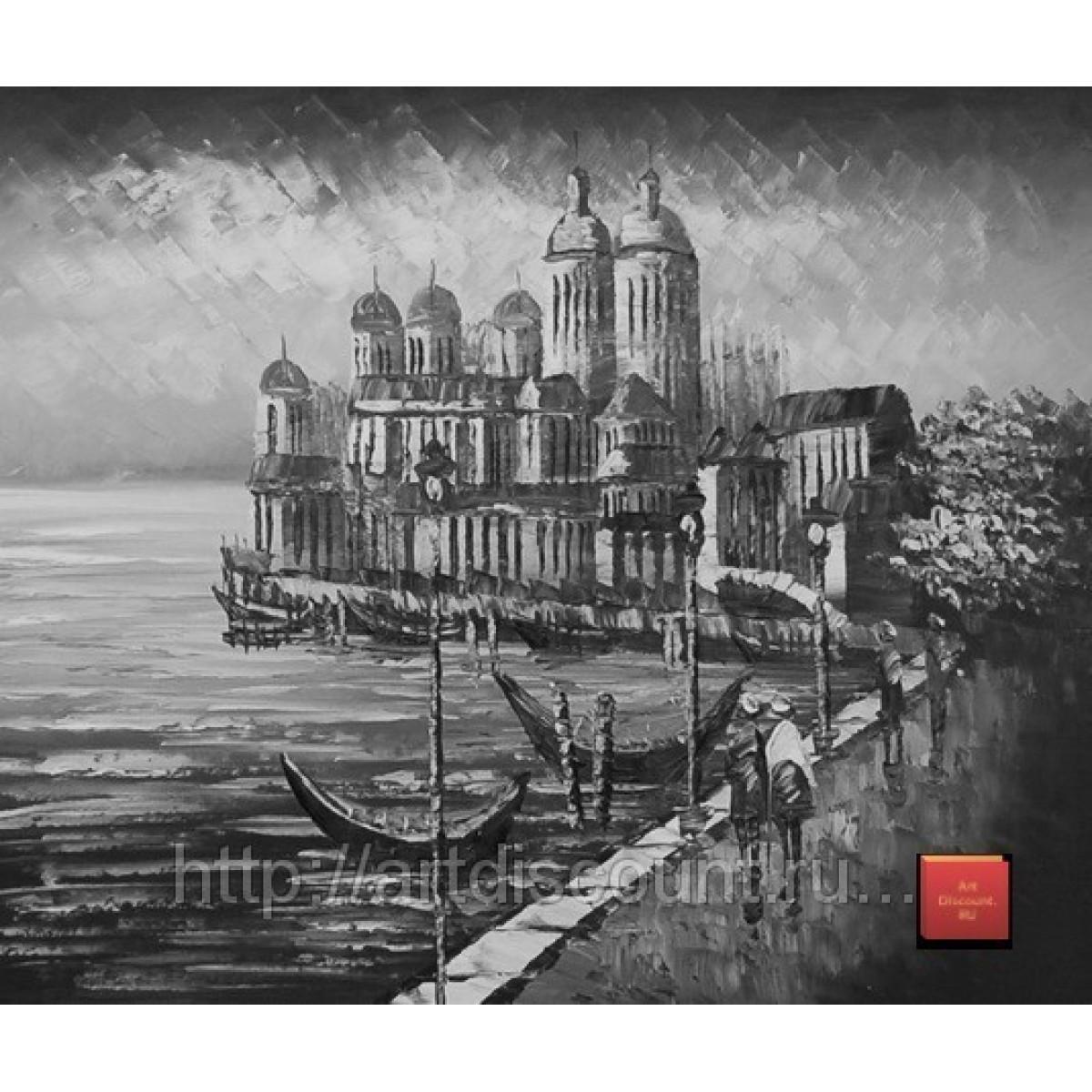 "Картина ""Венеция монохром"" холст, масло, 50х60см"