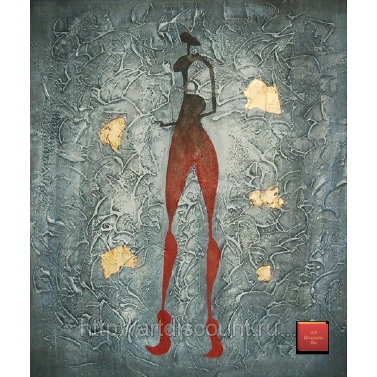 "Картина ""Загадочная фигура"" холст, масло, 50х60см"