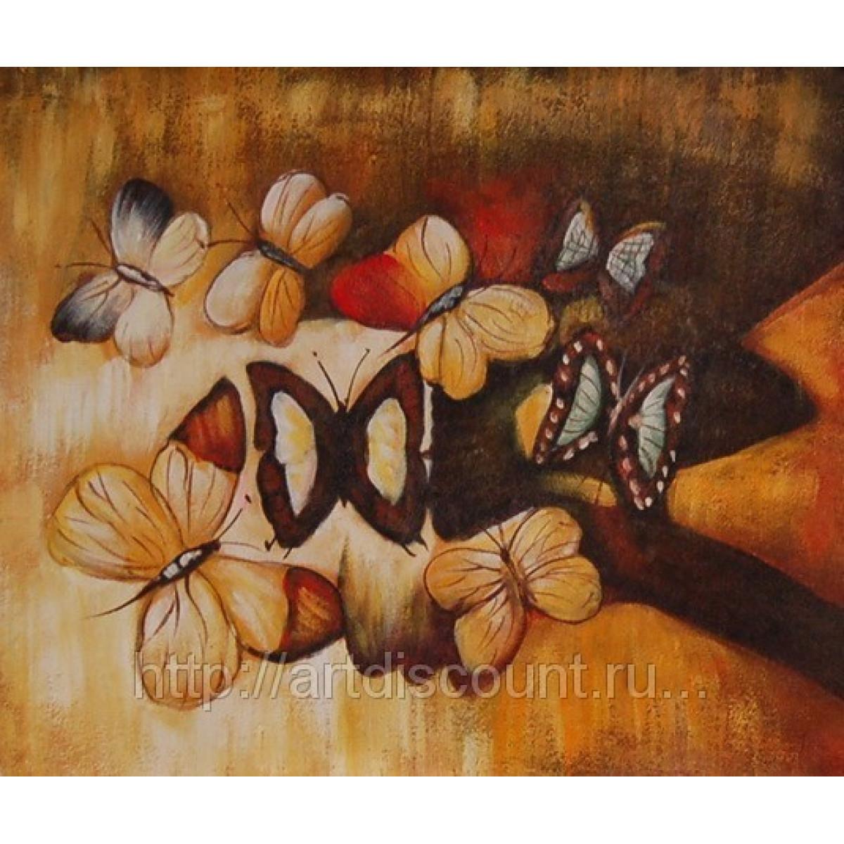 """Картина """"Бабочки"""" холст, масло, 50х60см"""