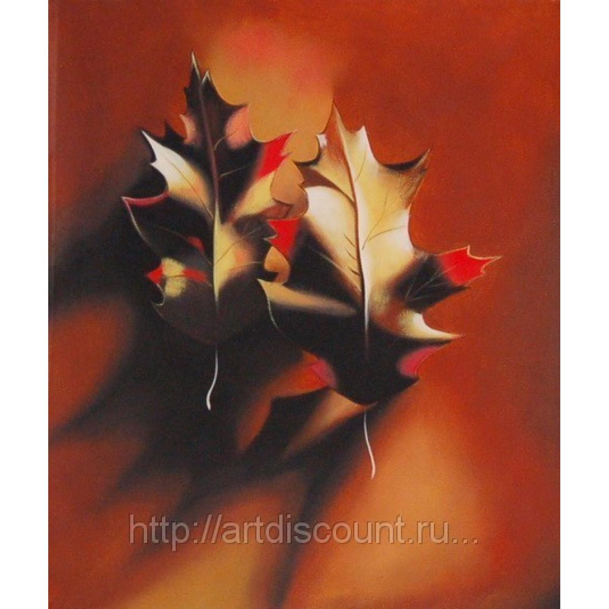"Картина ""Листья"" Холст, масло, 50х60см"