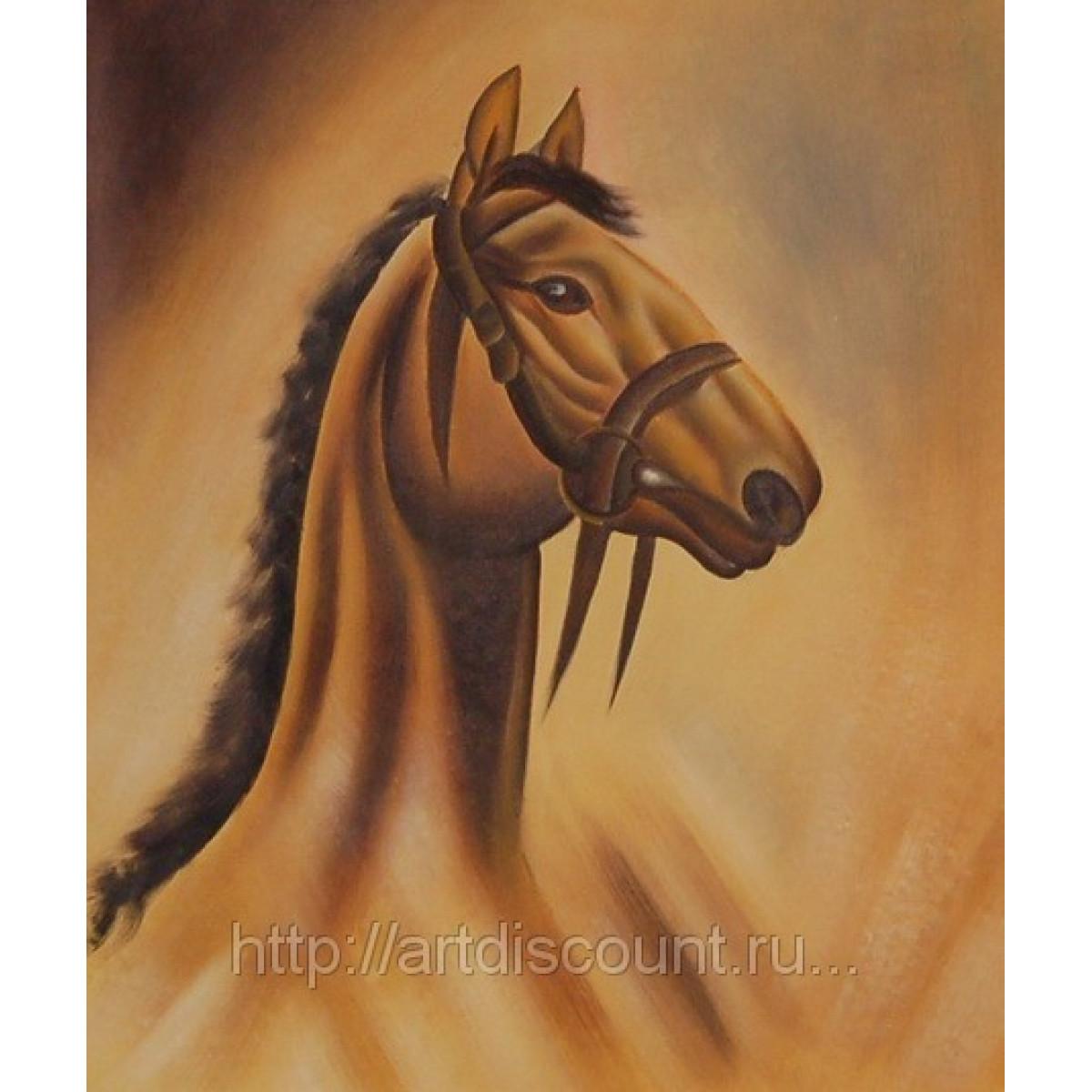 "Картина ""Конь"" Холст, масло, 50х60см"