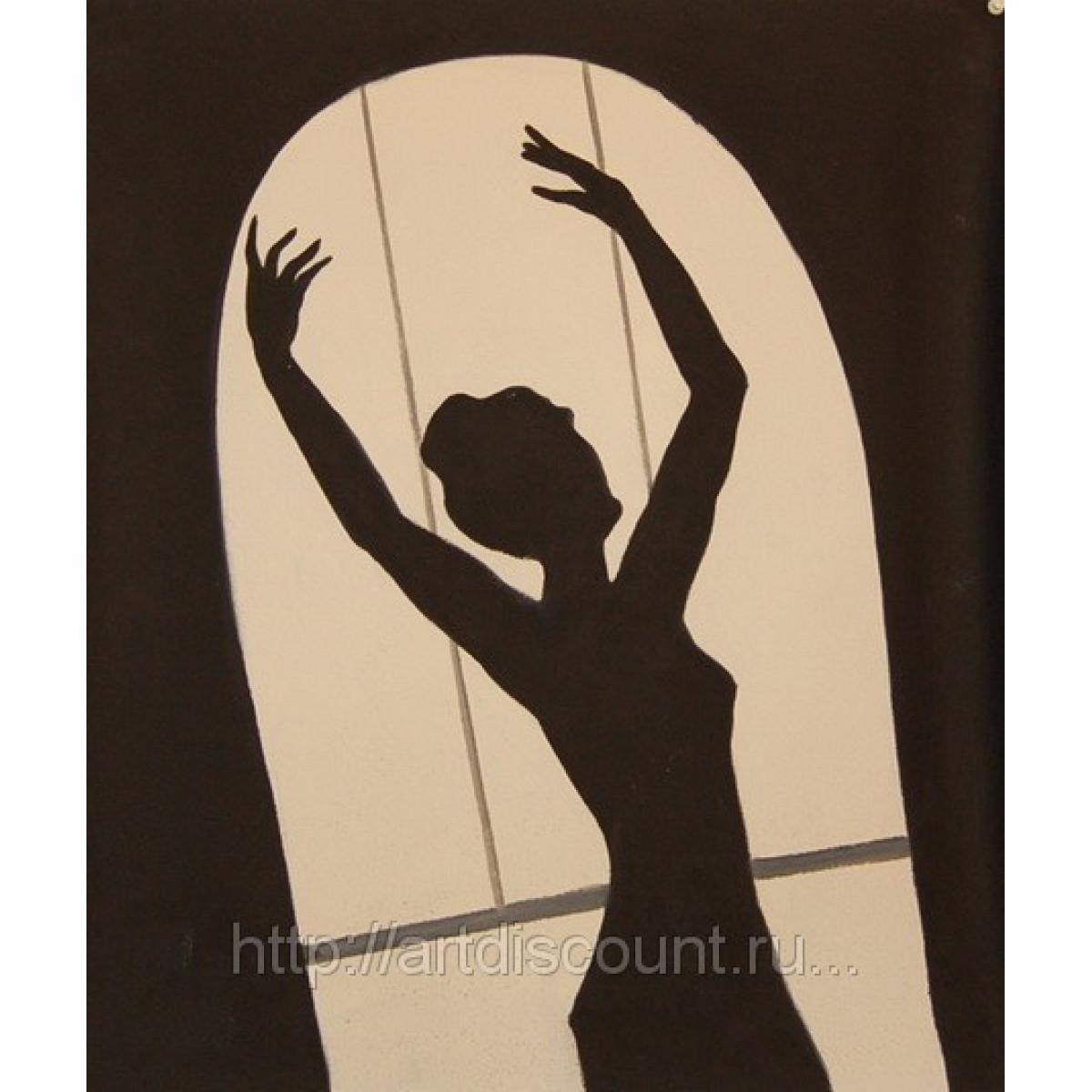"Картина ""Танец у окна"" Холст, масло, 50х60см"