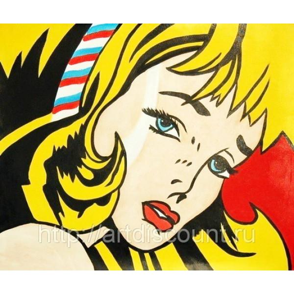 """Картина  """"Блондиночка"""", холст, масло, 50х60см"""