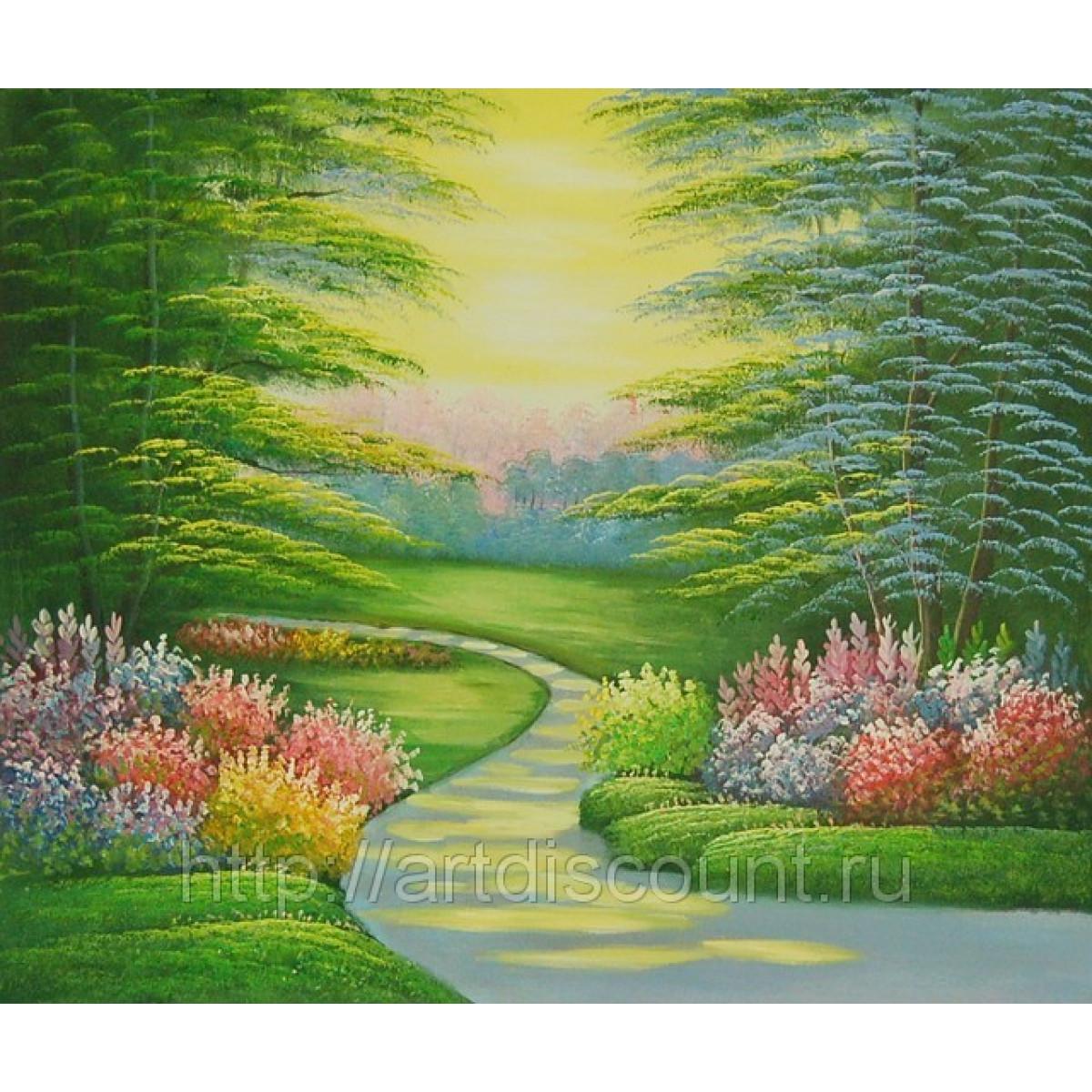 "Картина ""Волшебный лес"", холст, масло, 50х60см"