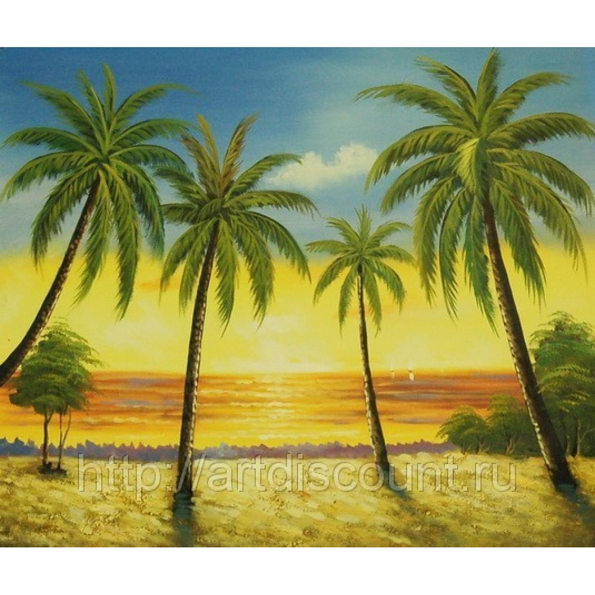 """Картина """"Дикие пальмы"""", холст, масло, 50х60см"""