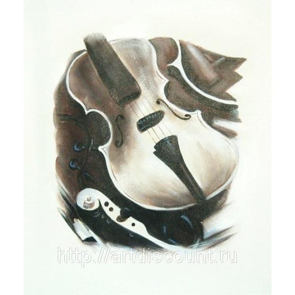 "Картина   ""Скрипичная мастерская"" холст, масло, 50х60см"