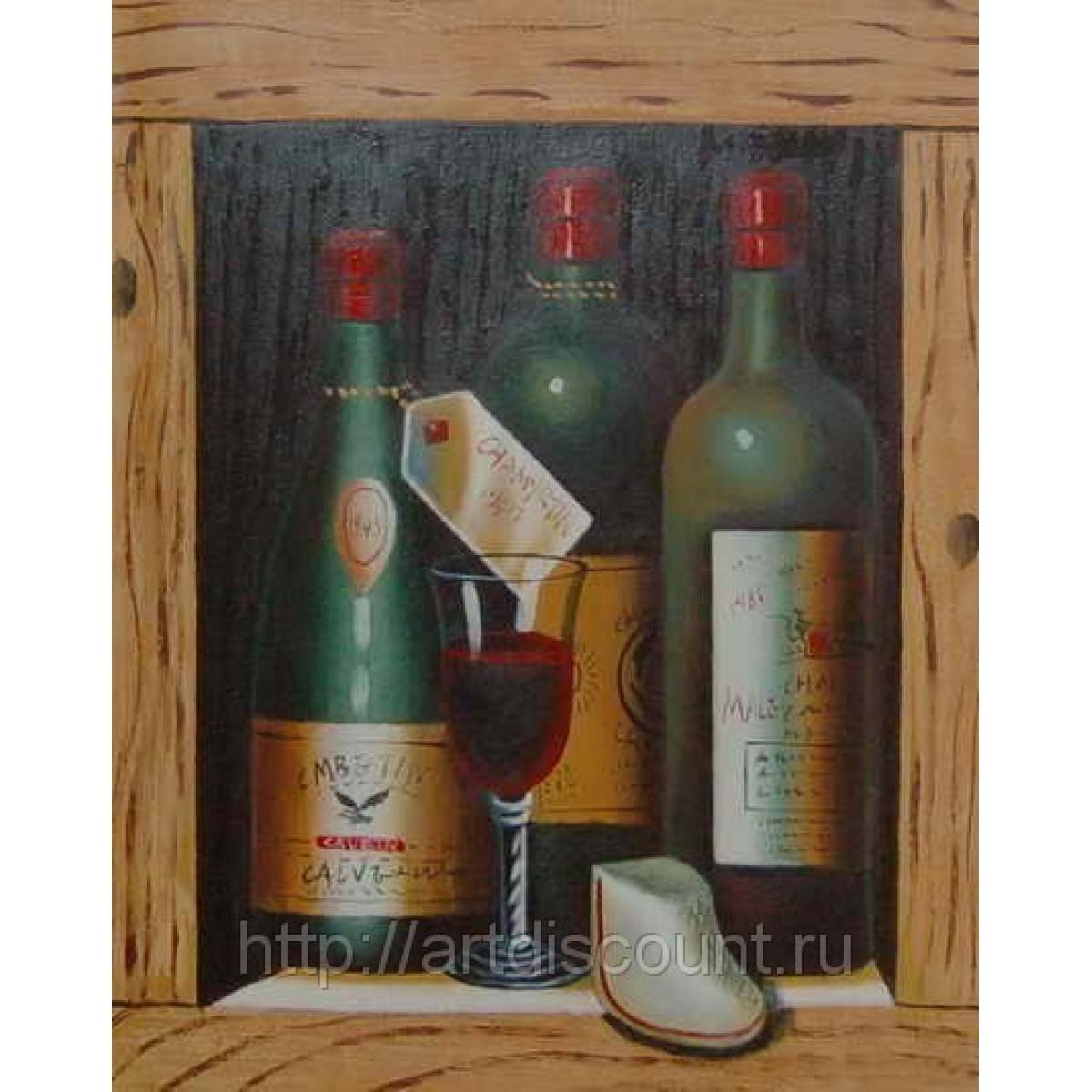 """Картина """"Вино"""" холст, масло, 50х60см"""