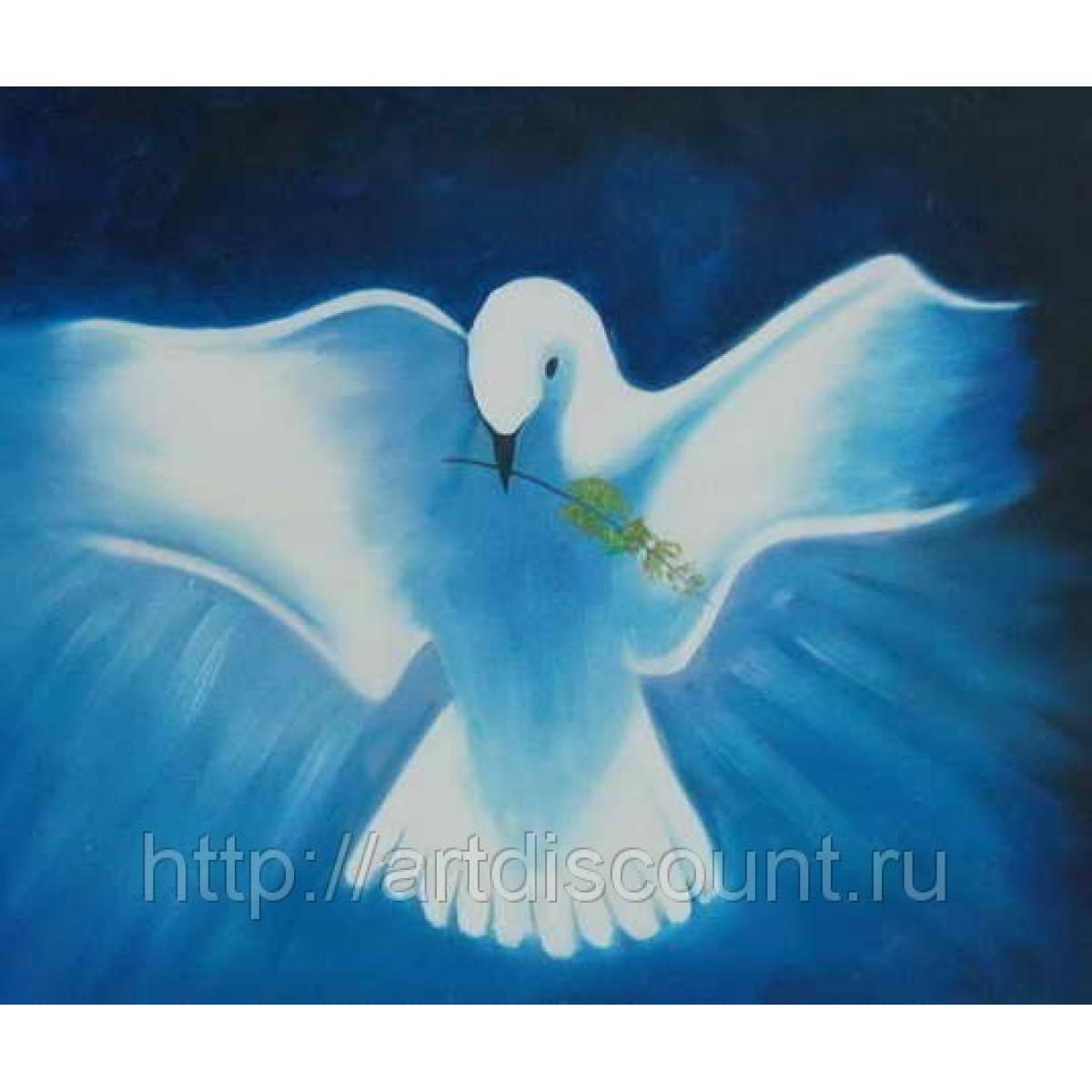 "Картина ""Голубь мира"" холст, масло, 50х60см"