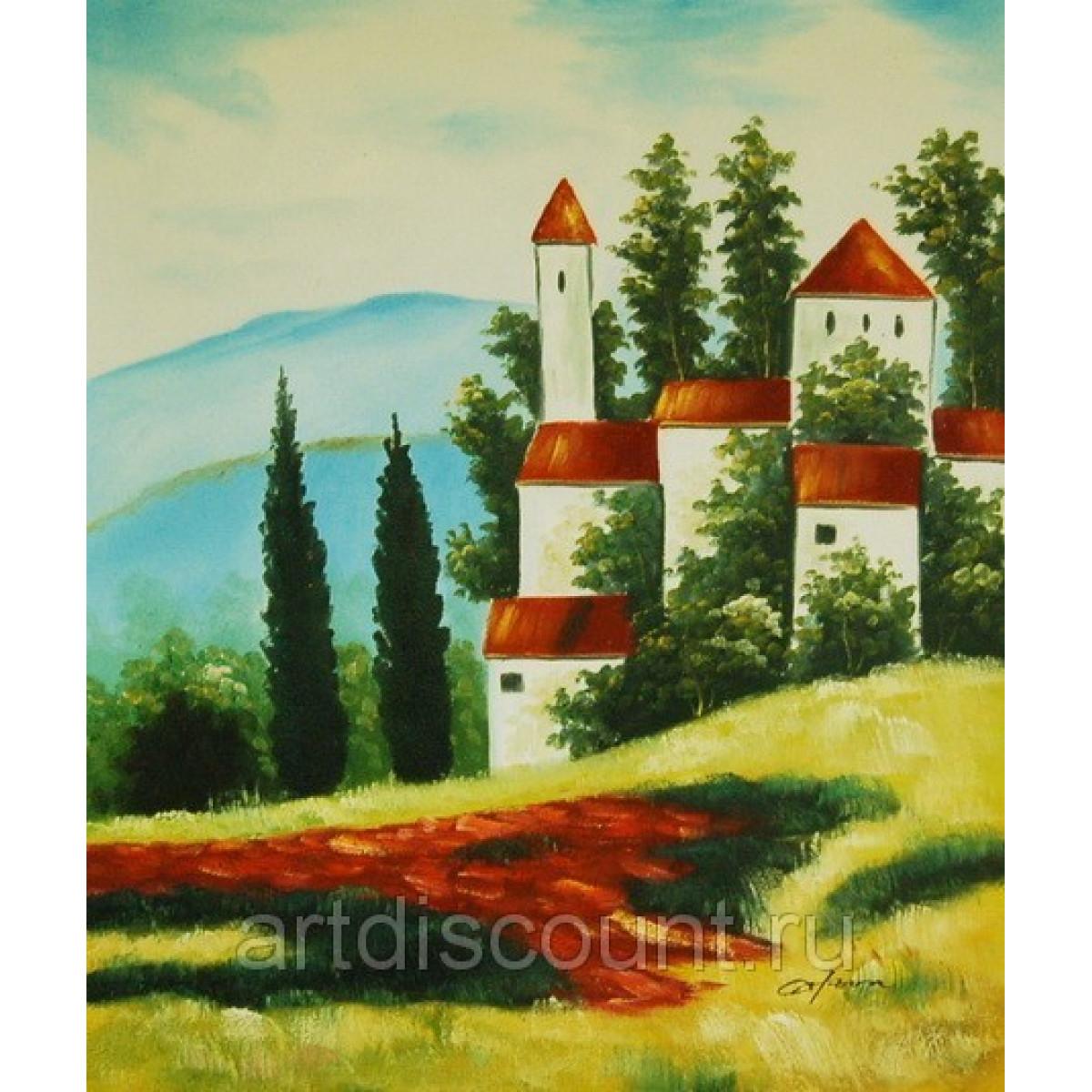 """Картина """"Замок"""", холст, масло, 50х60см"""
