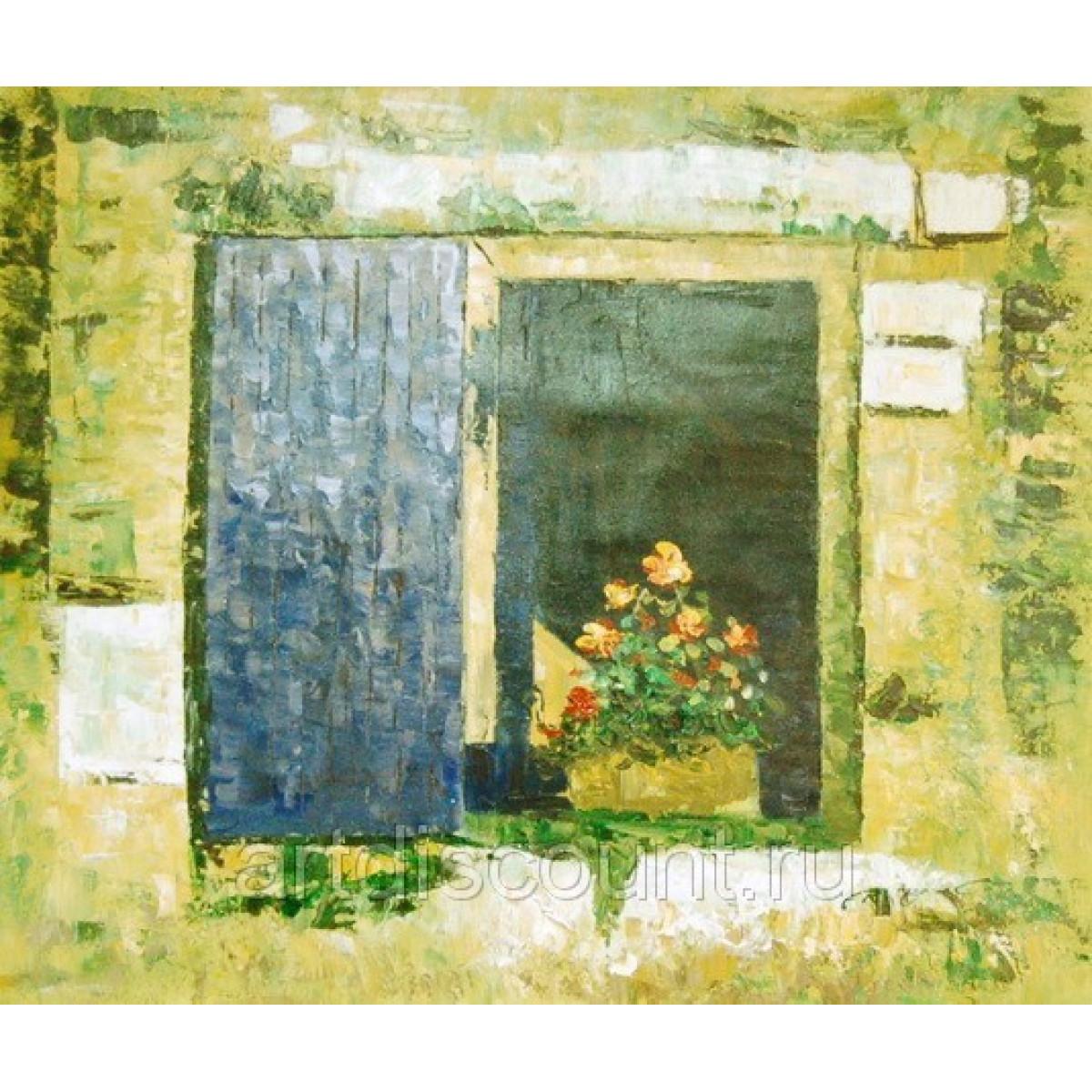 """Картина """"Окно"""" холст, масло, 50х60см"""