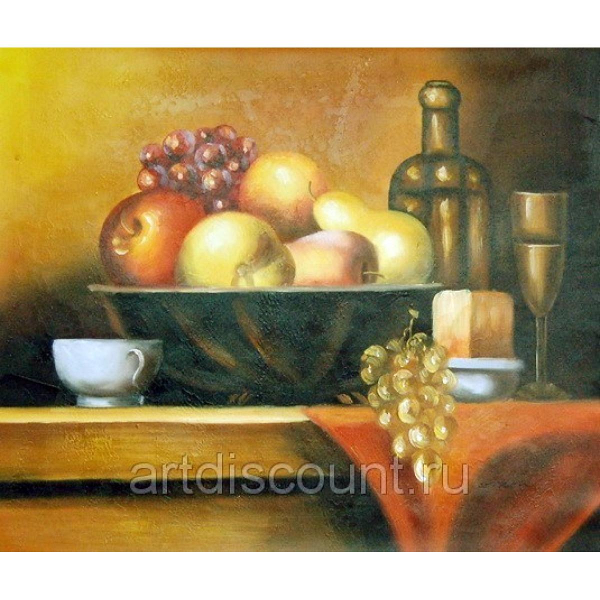 "Картина ""Простой натюрморт"" холст, масло, 50х60см"