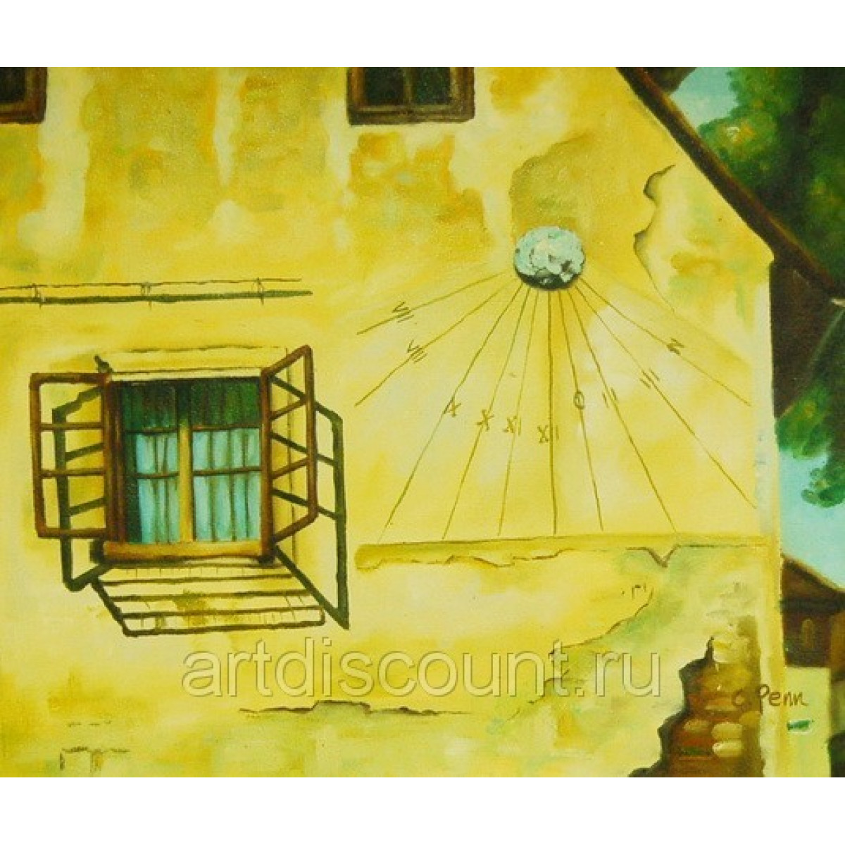"""Картина """"Солнечные часы"""" холст, масло, 50х60см"""