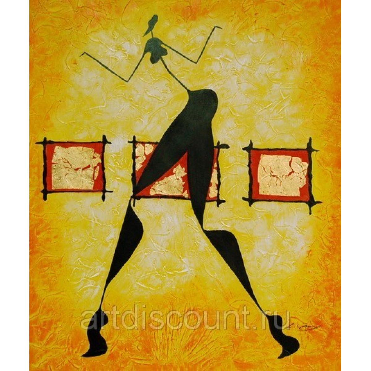 """Картина """"Танцующая"""" холст, масло, 50х60см"""