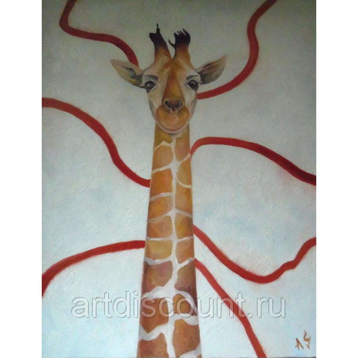 """Картина """"Жираф"""" 80х110см, холст, масло"""